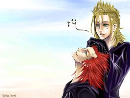 Axel and Demyx by BeBelial