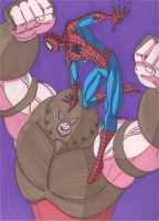 Spider-Man vs the Juggernaut by RobertMacQuarrie1