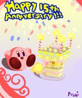 Happy 15th anniversary Kirby by Fushidane