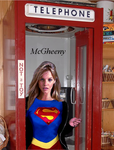 Supergirl changing in a Phone Booth by McGheeny