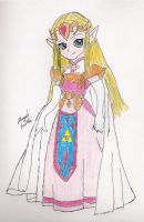 young Zelda by Lady-of-Link