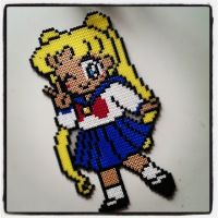 perler beads usagi - sailor moon by staubtaenzerin