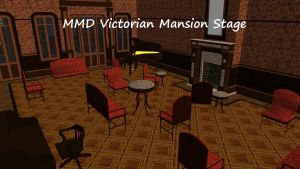 MMD Victorian Mansion Stage by swiftcat-mooshi
