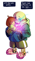 Undertale: Sans and Frisk by Fulcrumisthebomb