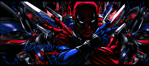 Red and Blue deadpool by Rabling-Arts