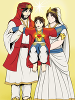 Divine Family - India costume version by VachalenXEON