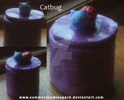 Catbug Cookie Jar by SummerSnowLeopard