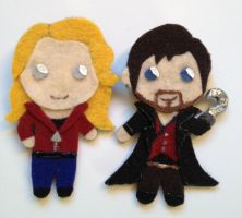 Captain Hook and Emma Swan Pins by MotherMcKarther