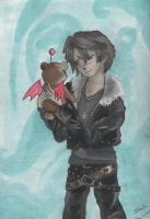 Squall with a moogle by IzzyKaulitz