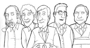 QI: Stephen Fry and team by Monkey19934