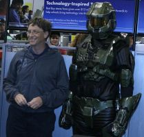 bill gates + master chief by DanteFan1