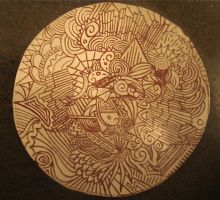 Doodle Plate by Beclectic