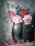 flowers in watercolor by ArchAntagonist