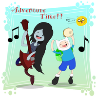 Adventure Time-Music time by Lonlon2orHoagieCoco