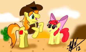 Art Trade- Braeburn and Apple Bloom by KyleStudios