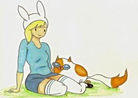 Fionna n' Cake by tsunamisilvers