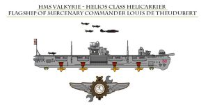 HMS Valkyrie - Helicarrier by Leadmill