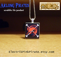 Arlong Pirates tile pendant by ElectrikPinkPirate