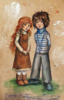 Eva and brother by Leda-Hedera