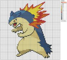 157 - Typhlosion by Makibird-Stitching