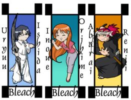 Bleach Bookmarks 2 by whyyy