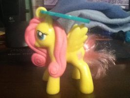Fluttershy Figure by cloudyrainbow561