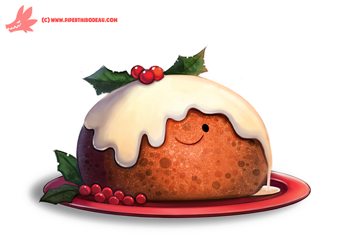 Daily Paint #1127. Christmas Pudding by Cryptid-Creations