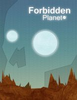 Forbidden Planet 1956 poster by MekareMadness