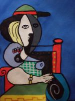 Seated Woman. by Sahh