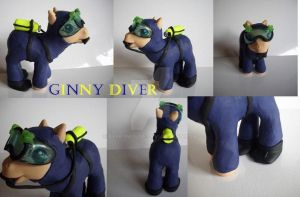 My little Pony Custom Ginny Diver by BerryMouse