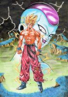 Goku Freezer by Crike99