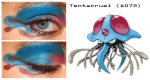 Pokemakeup 073 Tentacruel by nazzara