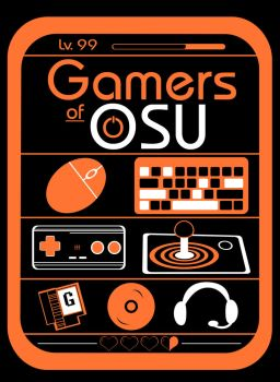 Gamers of OSU T-Shirt Design - Black Version by JNinja4