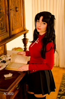 Rin Tohsaka - Fate / stay night - [Study time] by GeniMonster