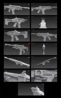 Contention: UNMC HP-45A1 Assault rifle (remake) by Malcontent1692