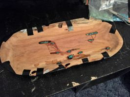 Oval Tray Wip Turquoise inlay 1 by lamorth-the-seeker