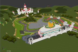 Blender Royal Raceway 64 by FnafFanGamer12
