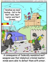 Nerf Weapons Cartoon by Conservatoons