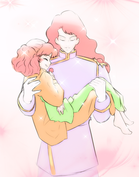 Nephrite and Naru by StarrdustCrusader