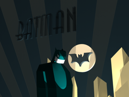 3D Art Deco Batman Robot 2 by Billiam-McAwesome