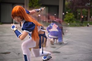 Dead Or Alive 5 Cosplay: Kasumi's Throw by AzHP