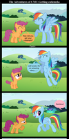 The Adventures of CMC: Getting cutiemarks Part 4 by BraveMoonGirl
