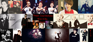 Happy Birthday Woo Ji Ho Zico by Kpop-love-BigBang