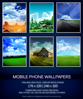 Mobile Phone Wallpapers Pack by lethalNIK-ART