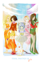 Final Fantasy IX girls by NetherworldQueen