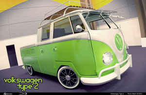 VW Combi Split Pick-up by pierre-allard