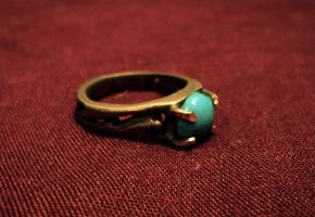 Bronze and Turquoise Ring by Y0uB3l0ng