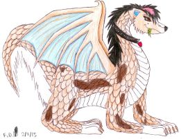 Gift Art: Velvet the Dragon by Feather-Dragon