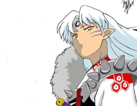 Deep Forest - Sesshomaru by Morgster