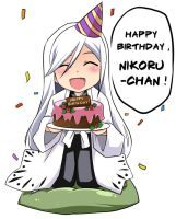 Happy Birthday , Nikoru by nekoshiei
